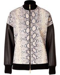 Emanuel Ungaro Python Printed Leather Jacket - Lyst