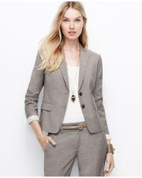 Ann Taylor Pinstripe Two Button Jacket - Lyst