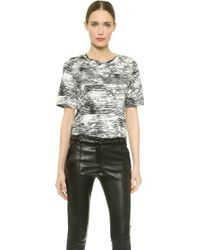 Jason Wu Abstract Print Stripe T-shirt - Blackchalkplaster - Lyst