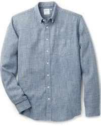 Schnayderman's Leisure Mouline Indaco Shirt - Lyst