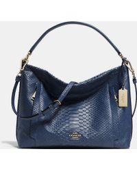 Coach Scout Hobo In Python Embossed Leather - Lyst