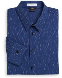 Versace Trend-fit Printed Stretch-cotton Dress Shirt - Lyst