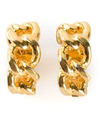Yves Saint Laurent Vintage Chain Half Hoop Earrings - Lyst