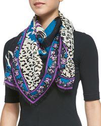 Emilio Pucci Khiva Printed Woolsilk Scarf - Lyst
