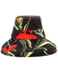 Dolce & Gabbana Floral-Printed Brocade Hat - Lyst