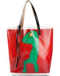 Marni Multicolor Shopping Tote - Lyst