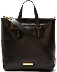Marc By Marc Jacobs Black Leather Luna Tote Bag - Lyst