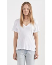 Current/Elliott The V-Neck Cotton T-Shirt - Lyst