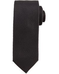 Hugo Boss Textured Solid Silk Tie - Lyst