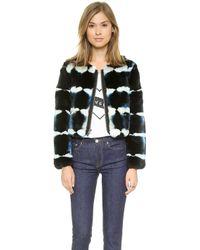 Elizabeth And James Garcia Fur Jacket - Petrol Blue - Lyst