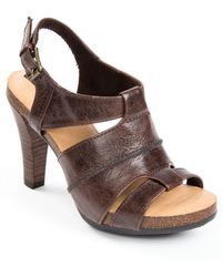 Me Too Gabbi Leather Strappy Sandals - Lyst
