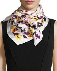 Diane von Furstenberg Floral-Print Silk Twill Scarf - Lyst