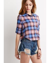 Forever 21 Plaid Flannel Shirt - Lyst