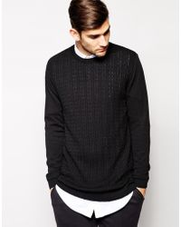 Asos Longline Cable Sweater - Lyst