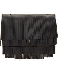 Proenza Schouler Black Fringed Large Lunch Bag - Lyst