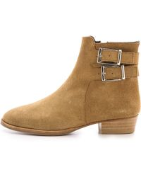 Surface To Air Drew Suede Booties  Beige - Lyst