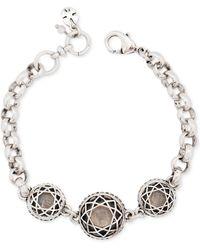 Lucky Brand Silver-tone Clear Quartz Stone Bracelet - Lyst