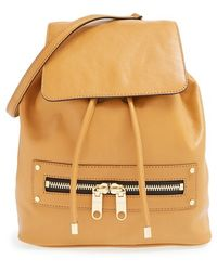 Milly 'Riley' Leather Backpack - Lyst