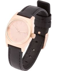 Nixon Small Time Teller Leather Watch - Lyst