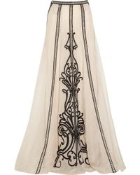 Temperley London Crivelli Embellished Embroidered Silkorganza Maxi Skirt - Lyst