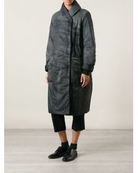 Rundholz Printed Padded Long Coat - Lyst