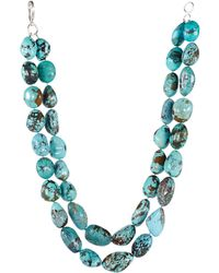 Ralph Lauren Turquoise Double-row Necklace - Lyst