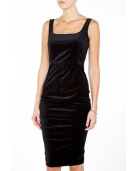 Sportmax Halli Snale Bodice Top Velvet Dress - Lyst