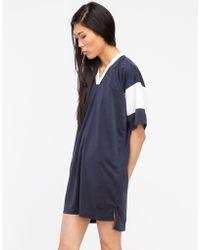 T By Alexander Wang Football Tee Dress - Lyst
