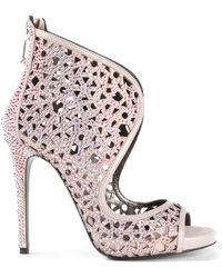 Philipp Plein Embellished Sandals - Lyst