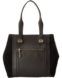 Vince Camuto Black Abby Tote - Lyst