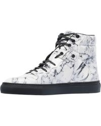 Balenciaga | Multi-material Marble Trainers | Lyst