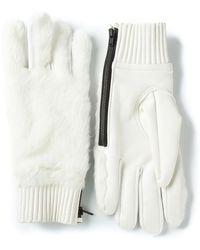 KTZ - Faux Fur Panel Gloves - Lyst