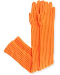 Michael Kors - Cashmere Ribbed Gloves - Lyst