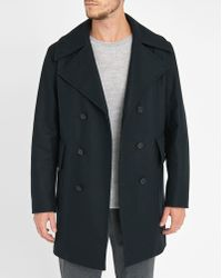 Sandro | Blue Officer Martingale Night Coat | Lyst