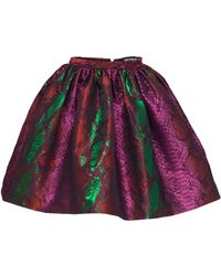 House Of Holland Dirndl Skirt Pink Snake - Lyst