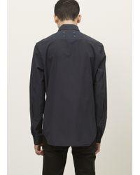 Maison Margiela | Dark Blue Slim Fit Garment Dyed Button Up | Lyst