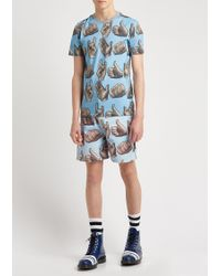 House of Holland - Pale Blue Pint Shorts - Lyst