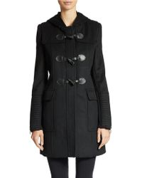 BCBGMAXAZRIA Wool Blend Toggle Coat - Lyst