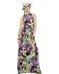 Etro Floral Printed Viscose Jersey Dress - Lyst