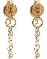 Melissa Joy Manning - Gold And Diamond Chain Stud Earrings - Lyst