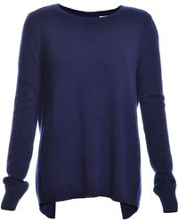 Blake LDN - Grove Open Back Cashmere Sweater In Navy - Last One - Lyst