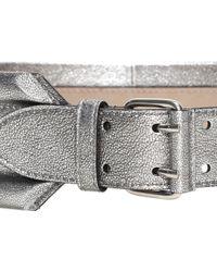 Alexander McQueen Metallic Padded Belt - Lyst