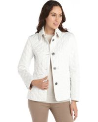 Burberry Brit Chalk Diamondquilted Button Front Copford Jacket - Lyst