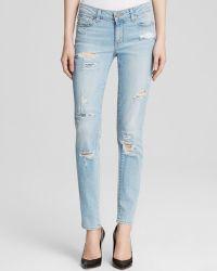 Paige Jeans - Skyline Ankle Peg In Loren Destructed - Lyst