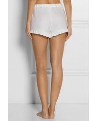 The Sleep Shirt - Royal Oxford Pintucked Cotton Pyjama Shorts - Lyst