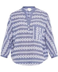 Band of Outsiders Blouse blue - Lyst