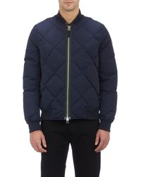 Paul Smith Diamond-quilted Bomber Jacket - Lyst