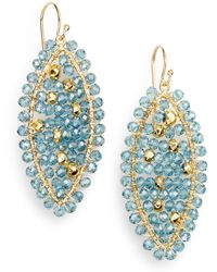 Nunu - Blue Quartz & Pyrite Bead Earrings - Lyst