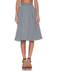 Nicholas Stripe Ponti Ball Skirt - Lyst
