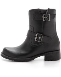 Jeffrey Campbell Doppler Moto Rain Boots - Black - Lyst